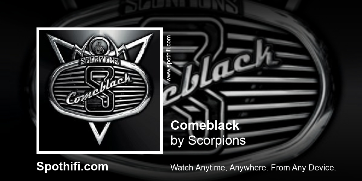 Comeblack by Scorpions   Album of the hour